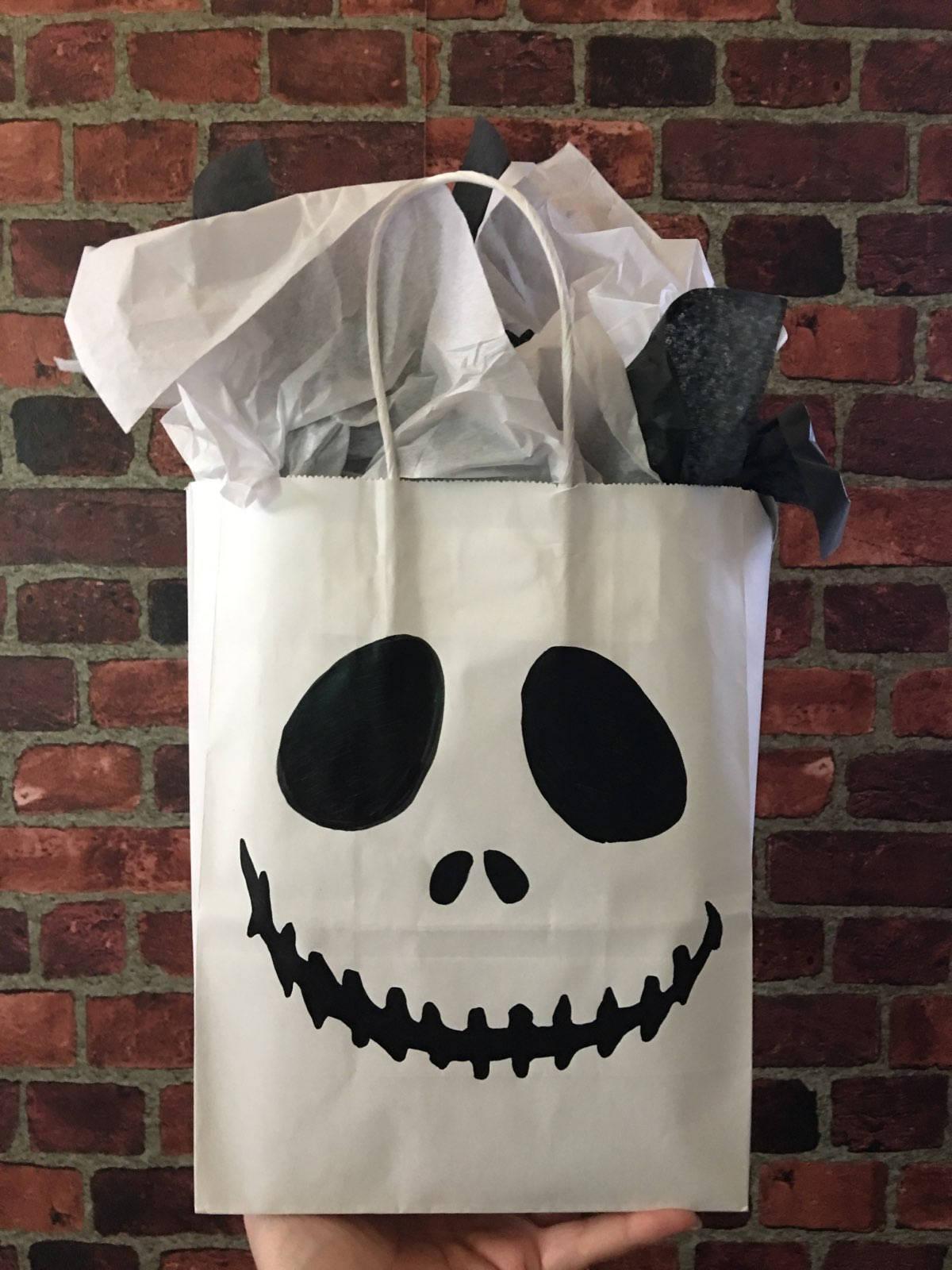 Nightmare Before Christmas Jack Skellington Gift or Treat Bag | Etsy