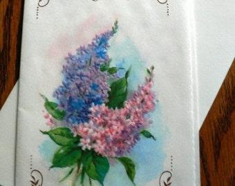 vintage cards ... BIRTHDAY GREETINGS floral retro CARD ...