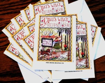 destash cards scrapbooking ... BOOK PLATE stickers grp of 12 ...