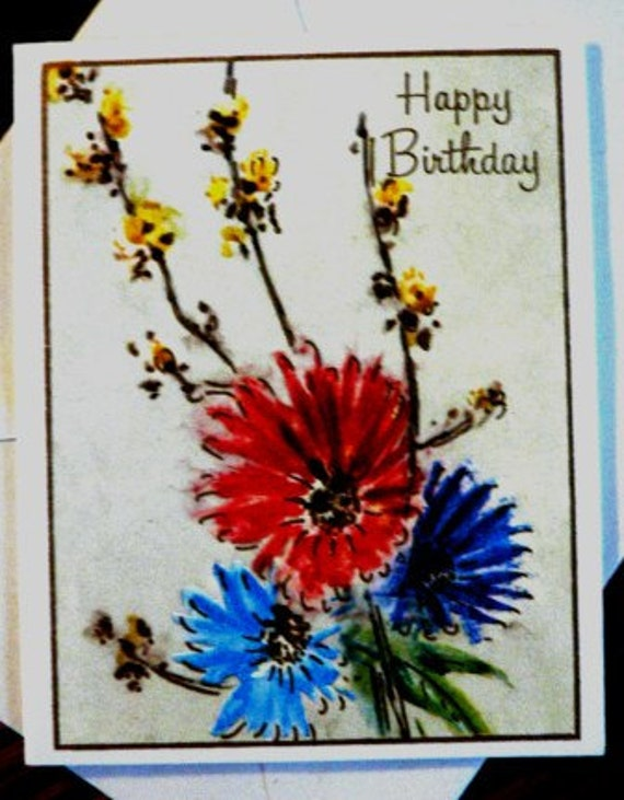 Vintage Cards Happy Birthday Vintage Single Card Only Etsy