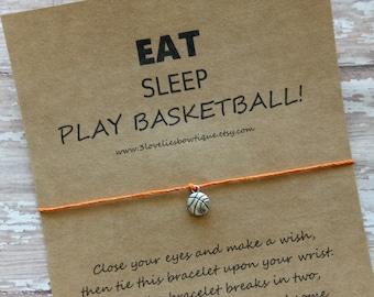 Basketball BraceletBasketball Team BraceletWish GiftBasketball Wish Gifts