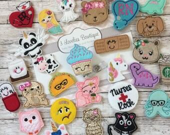 Cute badge reels | Etsy