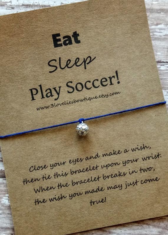 Soccer Wish Bracelet.Wish Bracelet.Soccer Bracelet.Soccer Gift.Wish Bracelets.Soccer Team Gift.Bracelet.Soccer Charm.Charm Bracelet.Gift