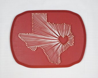 Deep in the Heart of Texas, State String Art