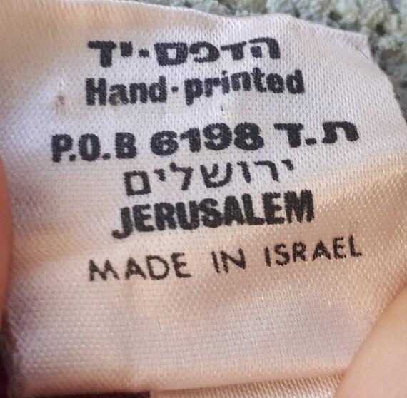 Vintage 70's Hand Printing Kaftan Maxi Dress   Bu… - image 7