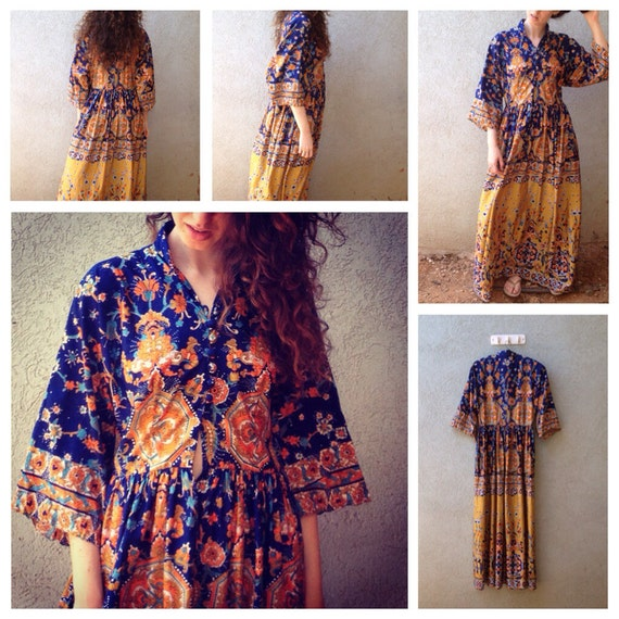 Vintage 1970s Dress Oscar de la Renta Boutique BoH