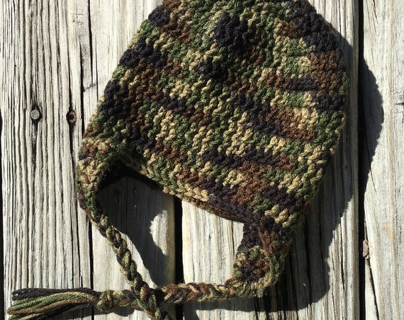 Camouflage Baby Hat with Ear Flaps