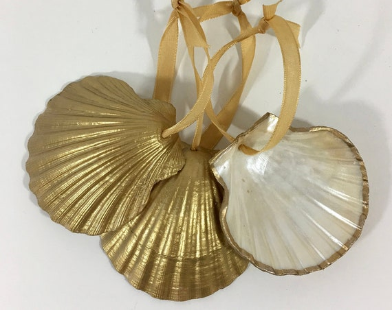 Upcycled Clam Shell Ornament