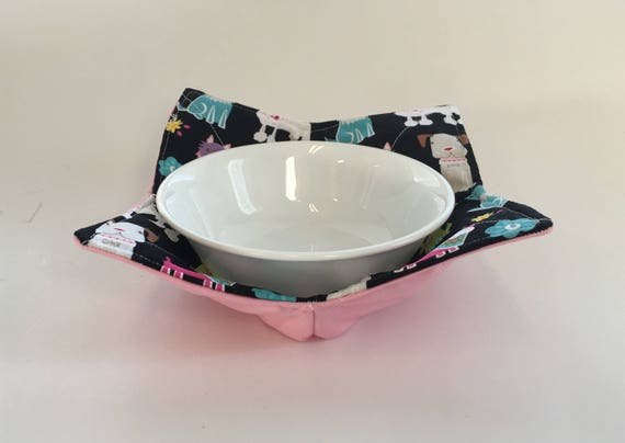 Bowl Cozy                Puppies and Pink