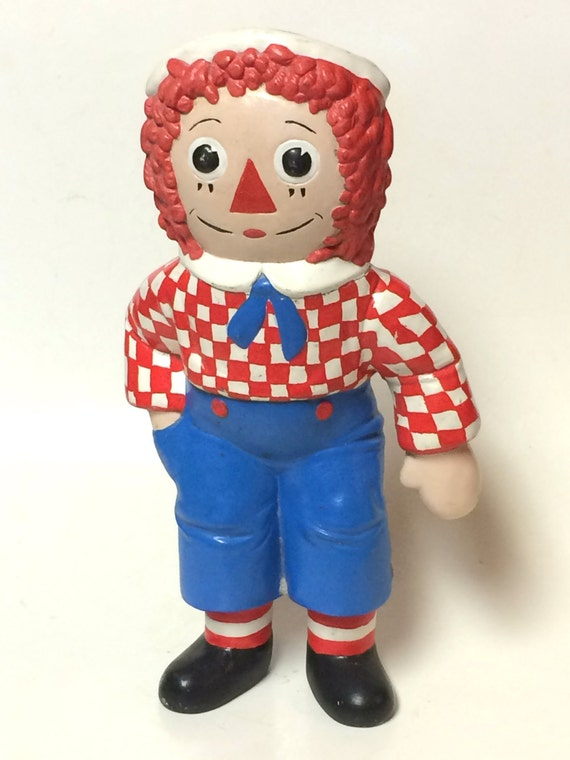 Vintage Ceramic Raggedy Andy Doll  1977