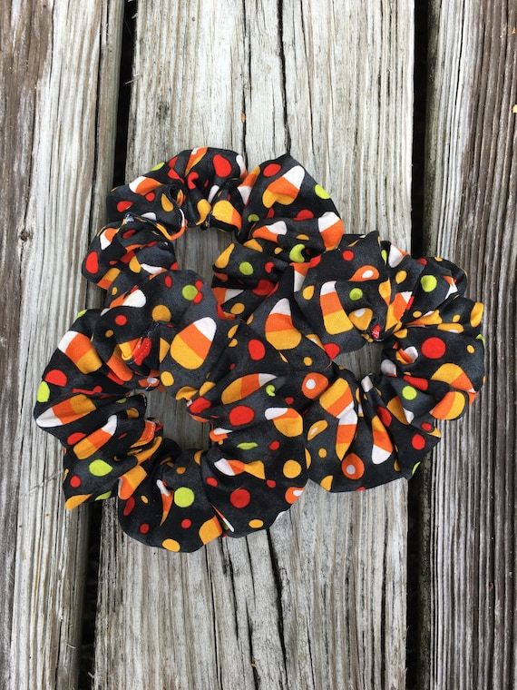Cloth Scrunchie   Candy Corn