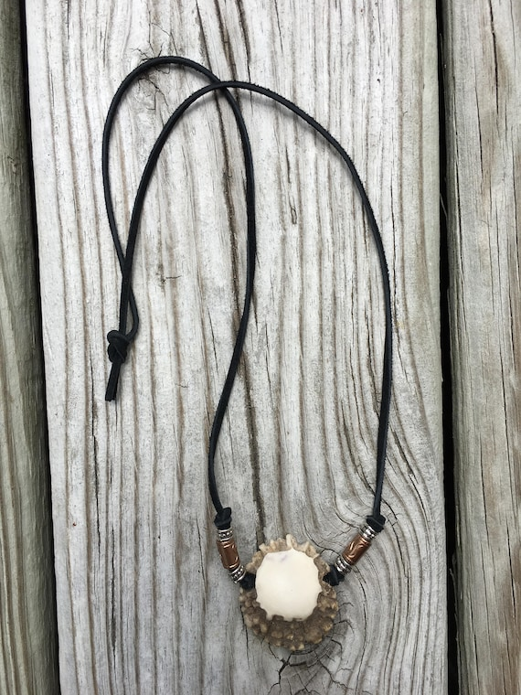 Deer Antler Tip Necklace Organic