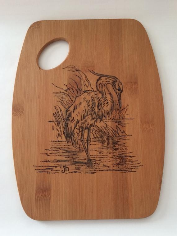 Egret Cutting Board    Pyrography