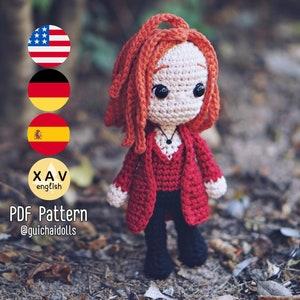 Wanda hat pdf knitting pattern Scarlett Witch avengers infinity war cosplay