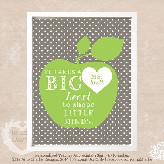 picture about It Takes a Big Heart to Shape Little Minds Printable referred to as It Just take A Substantial Center In direction of Form Tiny Minds Trainer