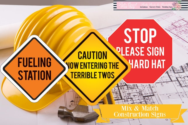 graphic regarding Construction Signs Printable titled Combination Video game Printable Framework Indications - A few