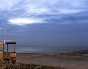 Galveston Seawall at Sunrise - Landscape Photography - Fine Art Photograph