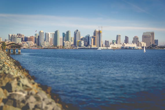 Downtown San Diego Skyline Landscape Photography Fine Art Etsy