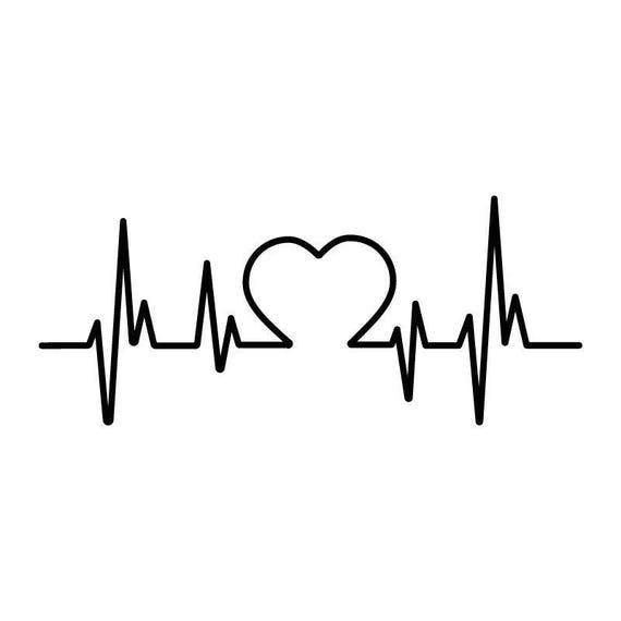 Coeur Dessin votre gravure dessin battements de coeur cardiaque | etsy