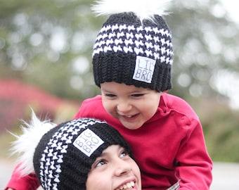 7e25f174a9f Big bro hat  little bro hat  Boys crocheted hats  Boys winter hats  Big  brother shirt  Little brother shirt  Big brother gift  Hat