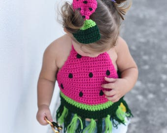 665c44f2c0ed86 Watermelon Crop Top  Watermelon Bow  Watermelon top  Watermelon shirt   Watermelon outfit  Girls crop top  Girls top  Girls clothes