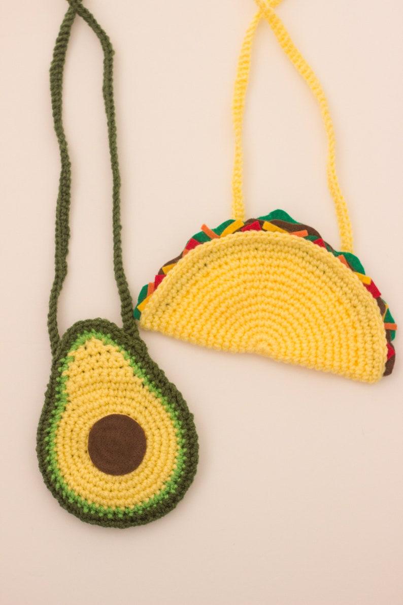 Taco Purse Avocado Purse Girls purses Kids Purse Cinco de Mayo Outfit Cinco De Mayo Purse avocado outfit Taco outfit