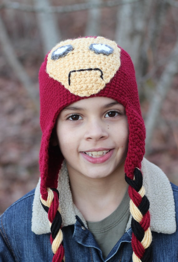 Crocheted Superhero Hat  Boys winter hat  Made to order in  4342e336ba9