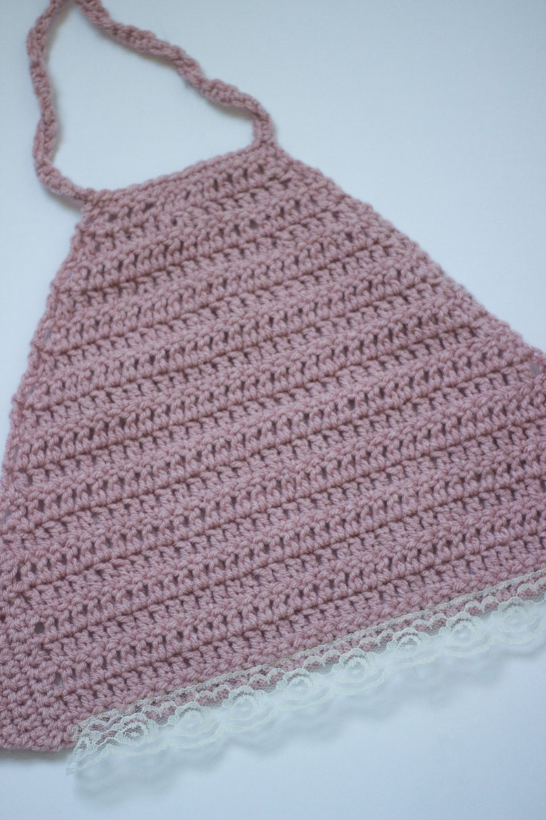 Lace Edged Crop Top Blush Pink Crop top Crocheted Crop top Crop top Girls crop top Pink Crop top Girls outfit Girls photo prop