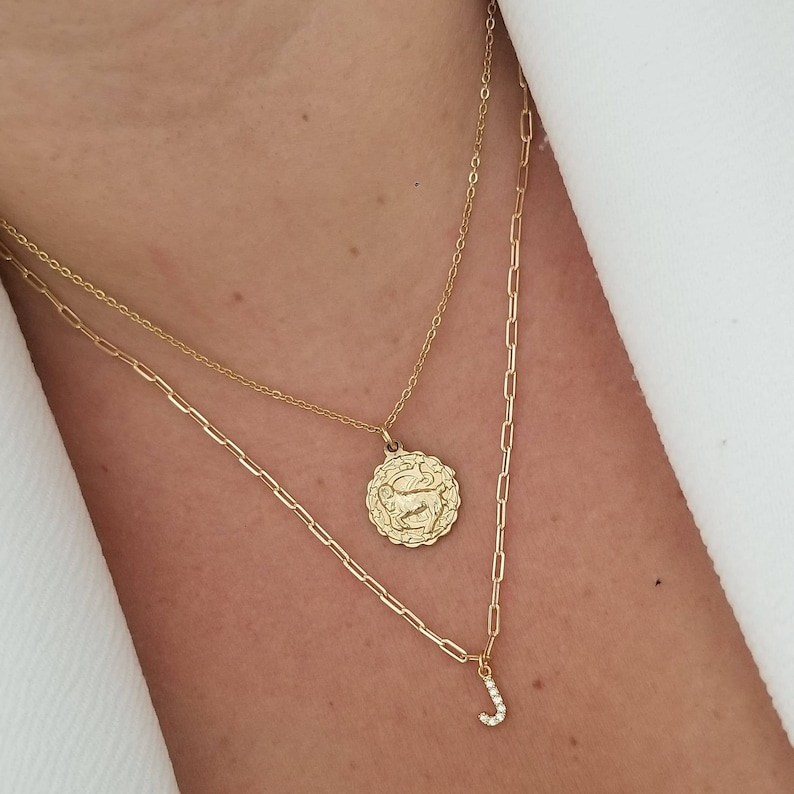 Petite Zirconia Initial Necklace