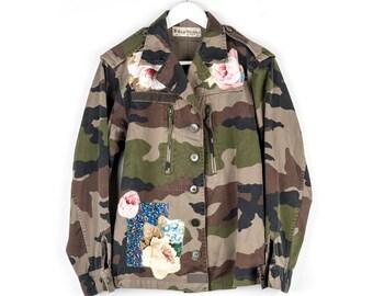 562ac699e8dd7 Customised Vintage Army Jacket