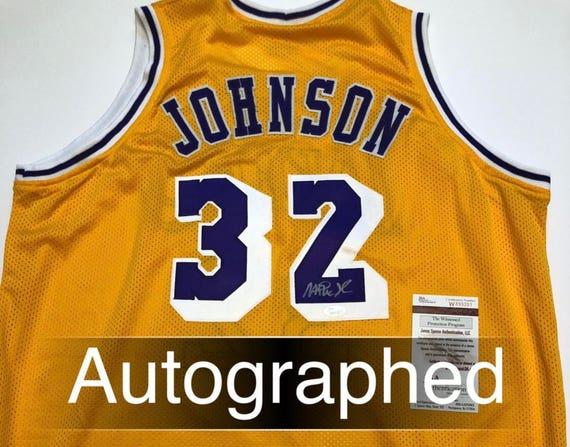Magic Johnson AUTOGRAPHED Los Angeles Lakers Jersey w JSA  928e8a3c9