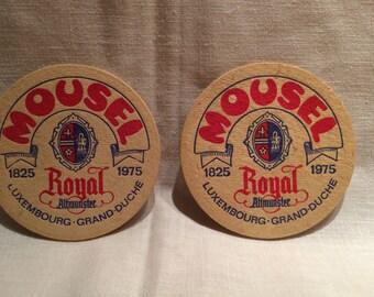 Mousel Vintage Beer Coasters