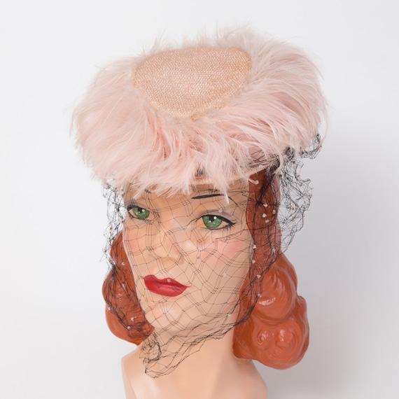 1940s Tilt Hat - Vintage Tilt Hat - 1940s Toy Hat