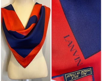 100/% wool Very good condition Size 42FRXL. Circa 80s Made in France Winter Dress LANVIN PARIS 80/'S