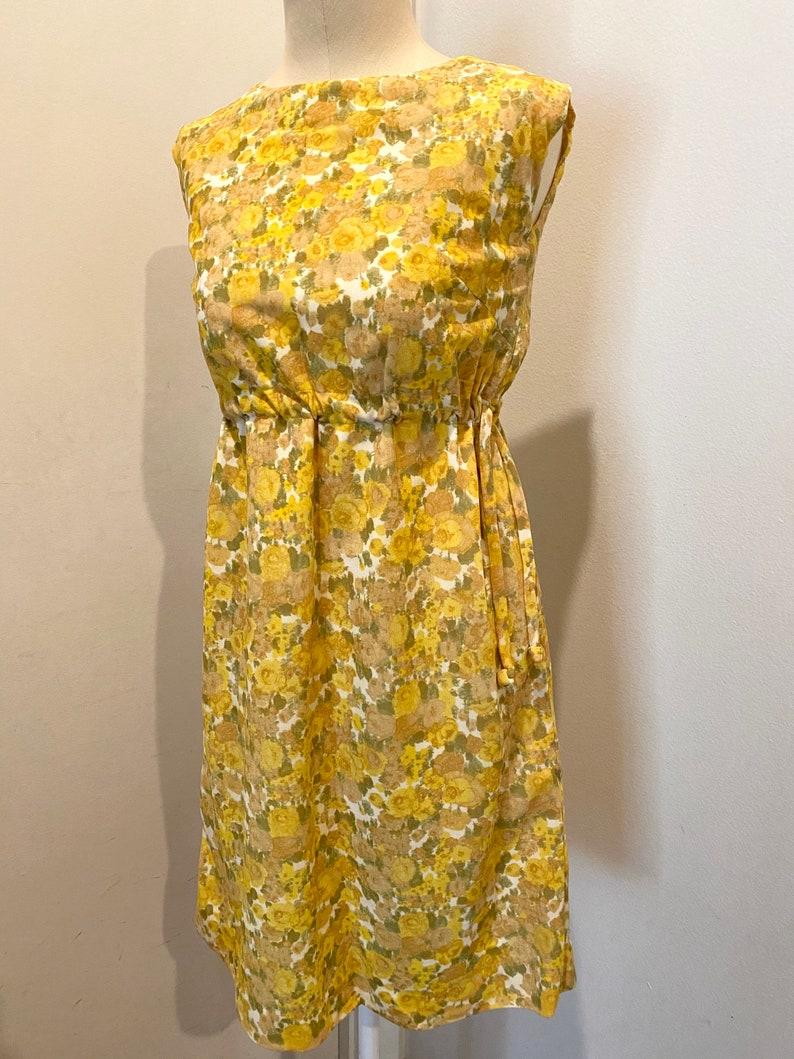 60s Floral Mod Dress XS S