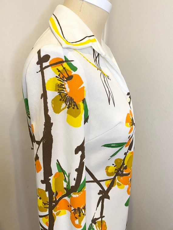 70s VERA Floral Button Up Top - image 8