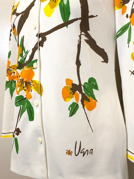 70s VERA Floral Button Up Top - image 2