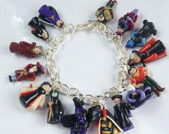 Disney Villian Inspired Charm Bracelet Handmade
