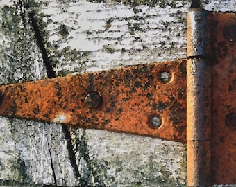 Old Hinge (The Farm Collection) by Susan A Ray of OneHealingStone Studio