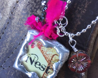 NEST Double Sided Soldered Charm Necklace by Susan A Ray