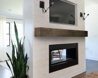 Modern Floating Mantel - Mantel Shelf - Industrial Mantle - Contemporary Mantel
