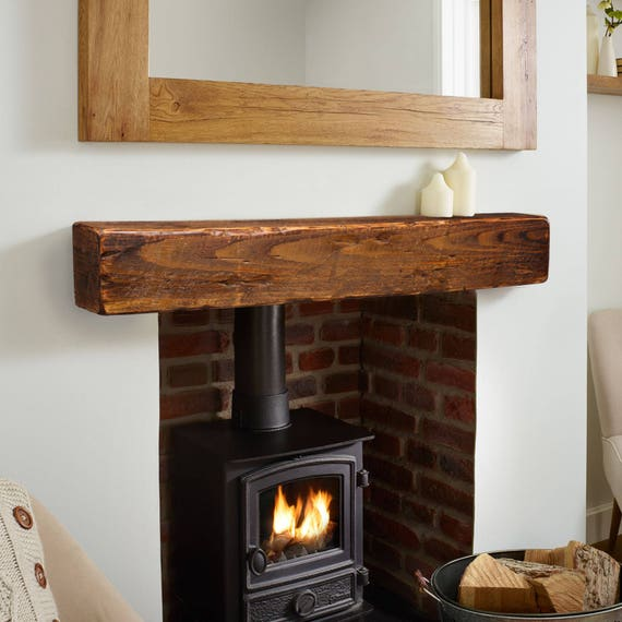 mantel fireplace mantel 6x6 mantle rustic mantle etsy rh etsy com reclaimed wood fireplace mantel shelves wood mantel on stone fireplace pictures