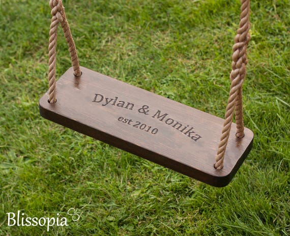 Engraved Swing Medium 24 Rustic Old Fashioned Tree Etsy