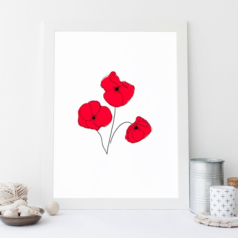 graphic regarding Poppy Printable named Poppy Printable, Prompt Obtain, Initial Poppy Instance, Floral Nursery Decor, Flower Print, Poppy Print, Electronic Artwork, Floral Artwork