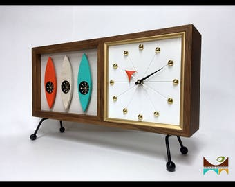 mid century modern clock Mid century clock | Etsy mid century modern clock