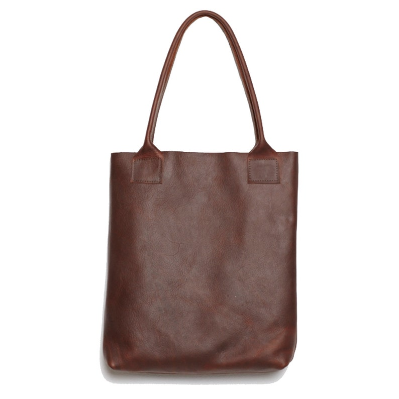 cdc4d1ff3f5 Handmade oiled Mahogany rich chocolate brown cowhide leather   Etsy