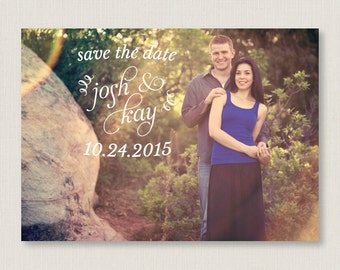 Custom save the date. Stylish and rustic wedding announcement, available as a postcard. Completely customizable and printable. #19