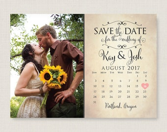 Custom save the date. Stylish and modern wedding announcement, available as a postcard. Completely customizable and printable. #30
