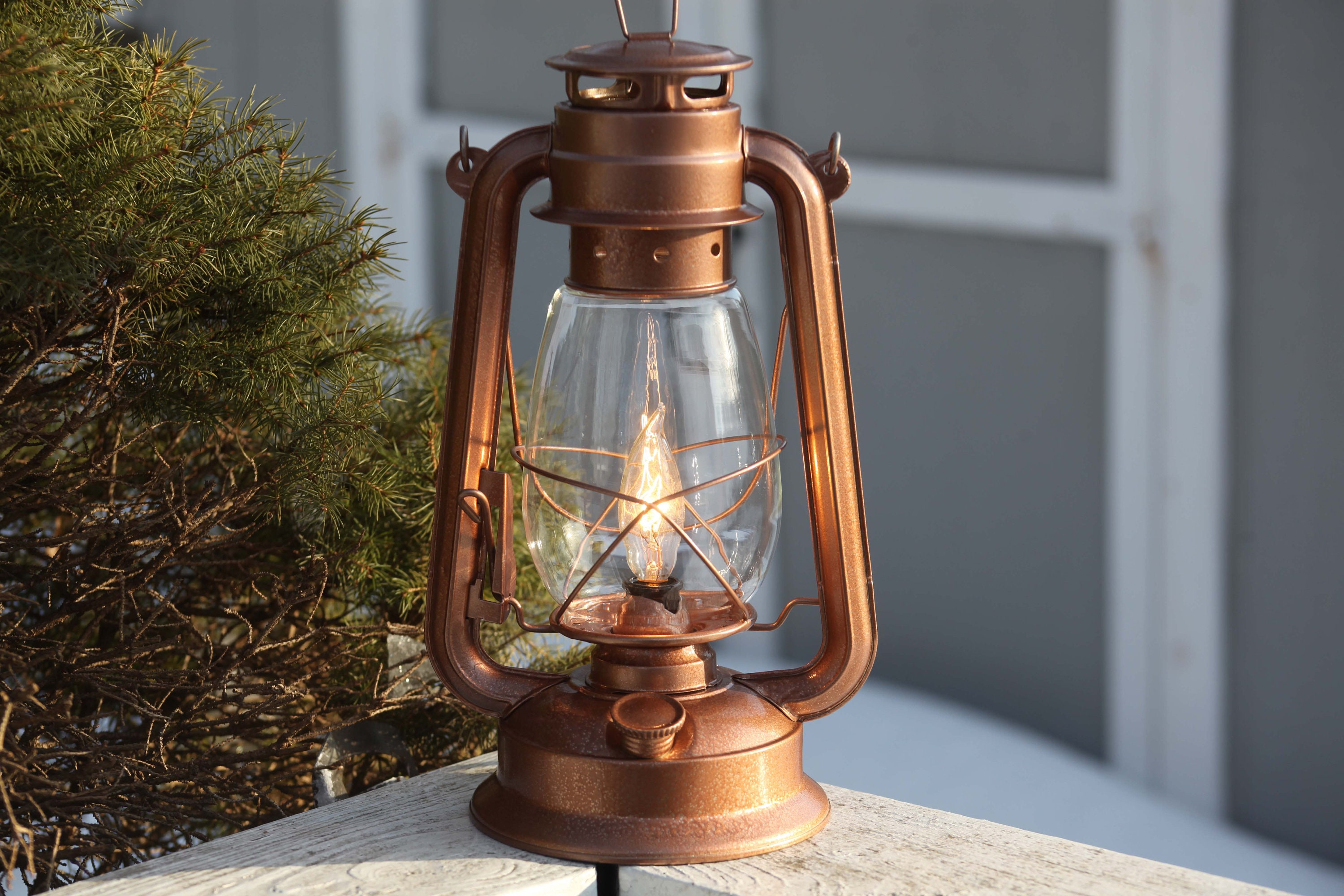 Electric Lantern Table Lamp Copper Lantern Dimmer Switch Etsy