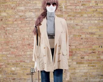 ESCADA 80s jacket / safari jacket / 90s blazer / mini dress / neutral jacket  /